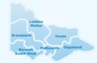 Victoria Regions Map